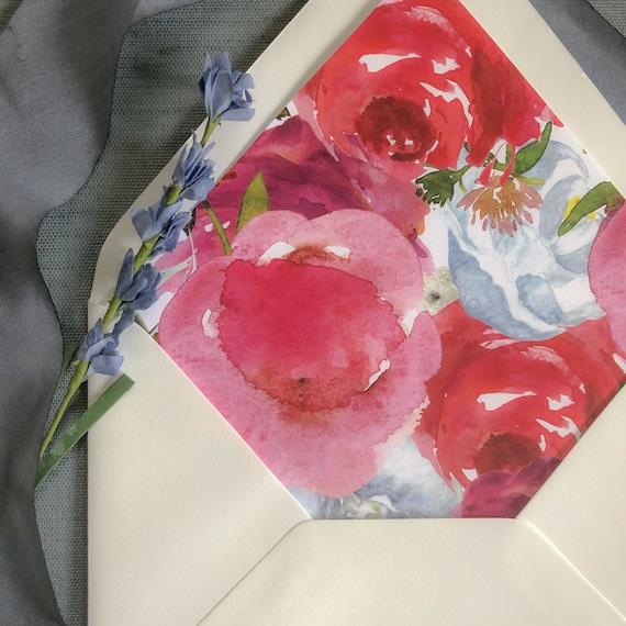 Victorian Floral Envelope Liners