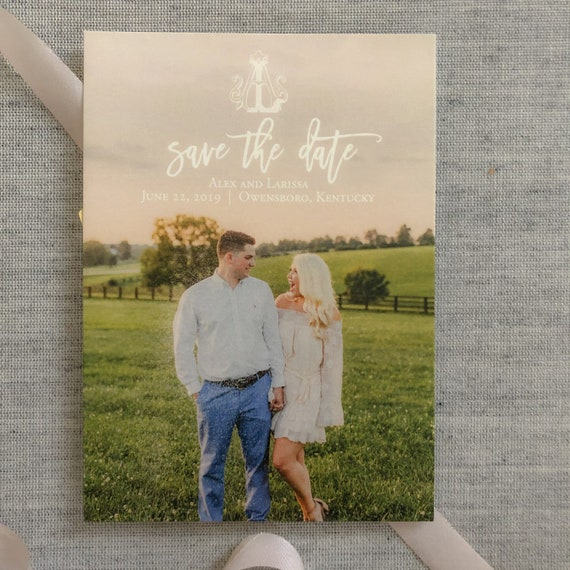 Custom Save the Date cards with envelopes