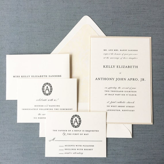 Sweet Simplicity wedding invitation