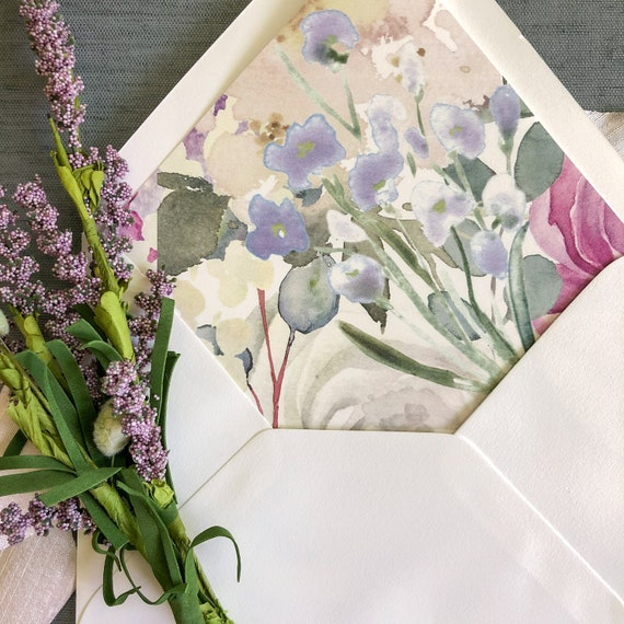 Lovely Lilac Envelope Liners