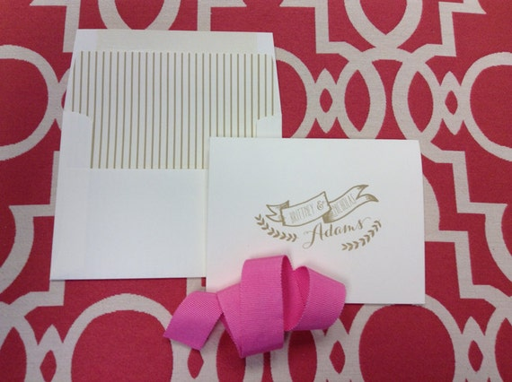 True Love Personalized Stationery - foldover notecards