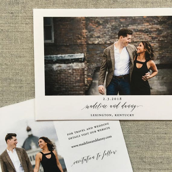 Simply Modern Save the Date Cards