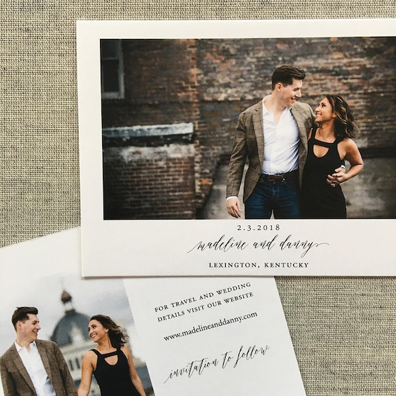 Simply Modern Save the Date Cards with envelopes
