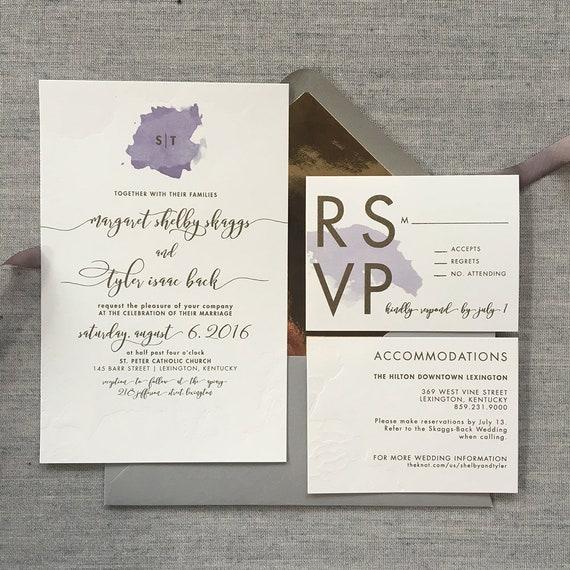 Modern Duet wedding invitation suite