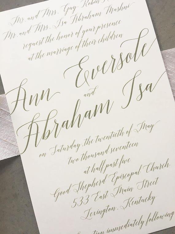 Modern Madeline wedding invitation suite