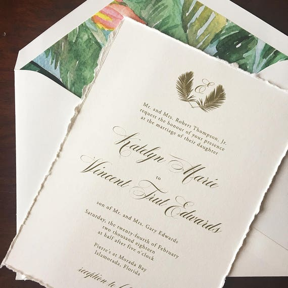 Perfect Palm wedding invitations