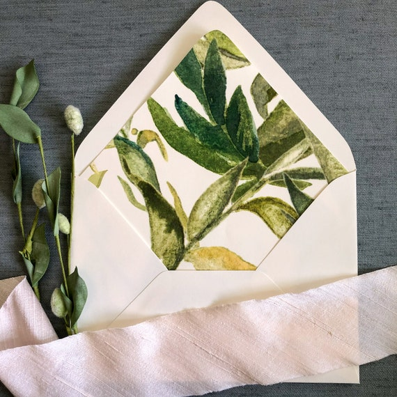 Just Greenery Envelope Liners
