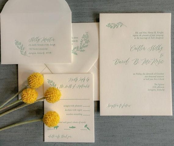 Summer Harvest Letterpress Sample
