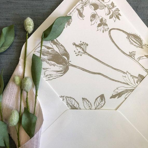 Vintage Garden Envelope Liners
