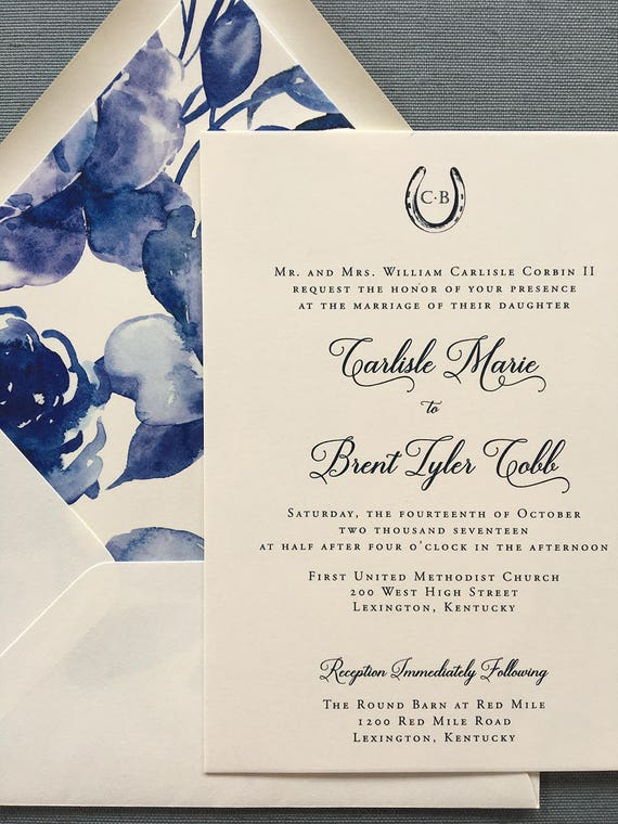 Modern Bluegrass Charm wedding invitations