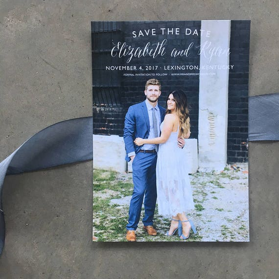 Simple Beauty Save the Date Cards