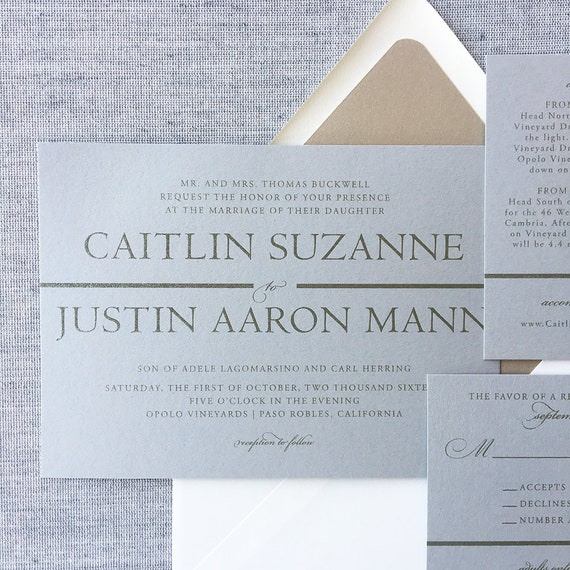 Modern Text in Gray and Gold Sample
