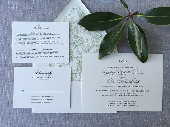 Modern Initials Monogram wedding invitations