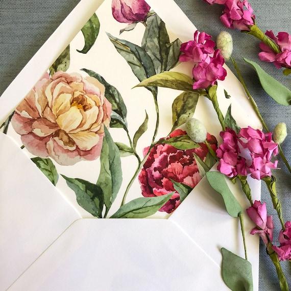 Garden Rose Envelope Liners