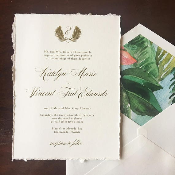Perfect Palm wedding invitation (Sample)