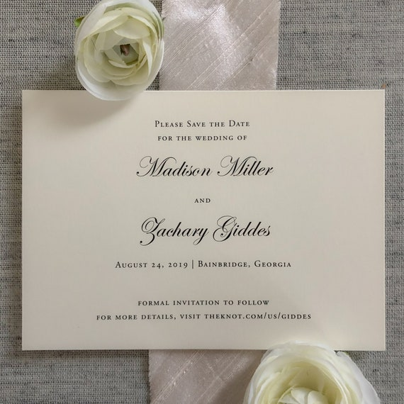 Simplicity Save the Date Cards
