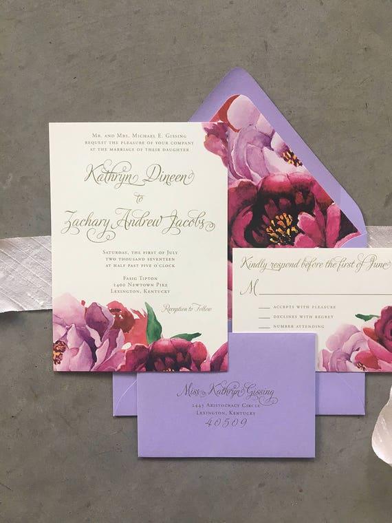 Floral Fantasy wedding invitation (Sample)