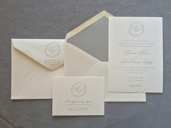 Simple Wreath wedding invitation (Sample)