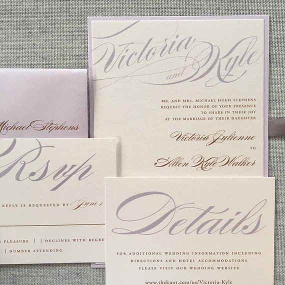 Bold Calligraphy wedding invitation (Sample)