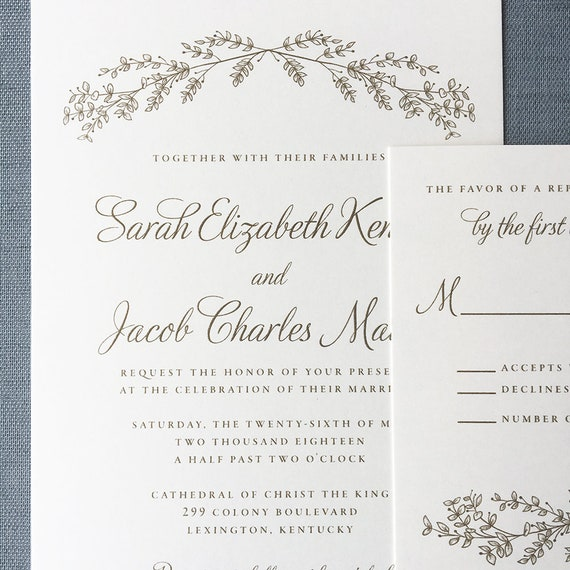 Lovely Branches wedding invitation (Sample)