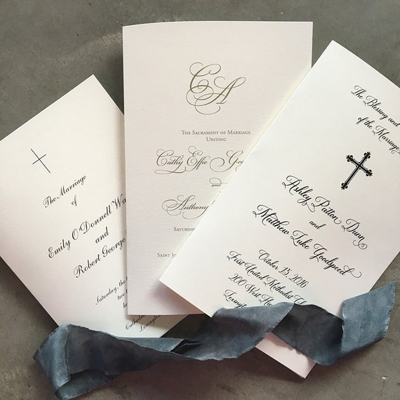 Custom Folded Ceremony Program