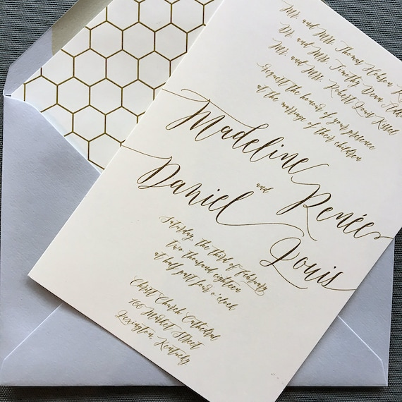 Victorian Modern Madeline wedding invitations