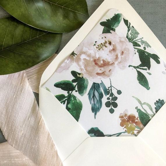 Blush Whisper Envelope Liners