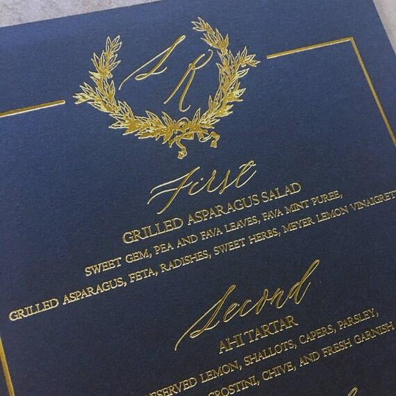 Modern Wreath menu card
