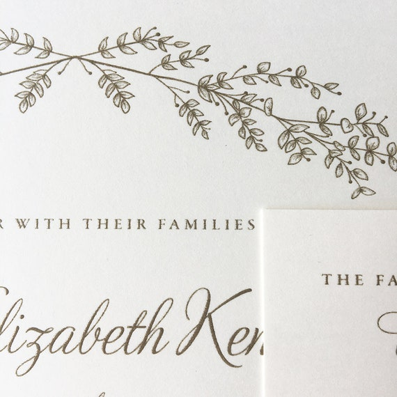 Lovely Branches wedding invitation