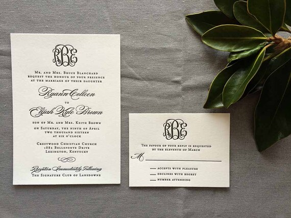 Letterpress Classic Monogram Sample