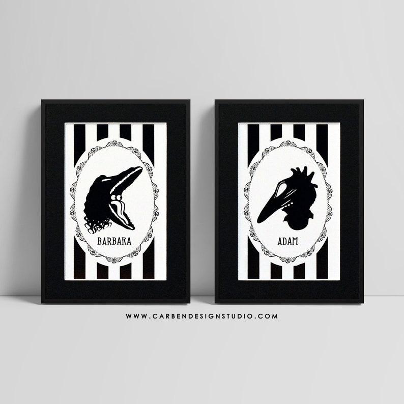 Barbara and Adam Foil Print. Beetlejuice Foil Print. image 0