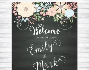 Welcome Wedding Chalkboard Sign, Chalkboard Wedding Signage, Chalkboard Wedding Welcome Sign, Welcome Wedding Poster