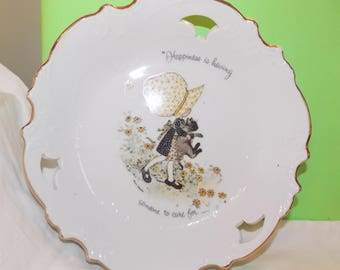 Holly Hobbie collectors plate wall decor