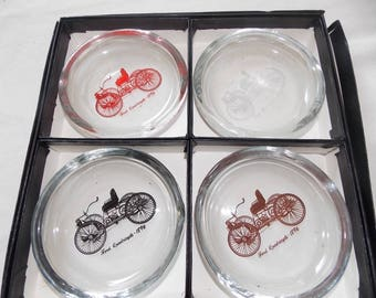 Ford Quadricycle ashtray or coaster set in box