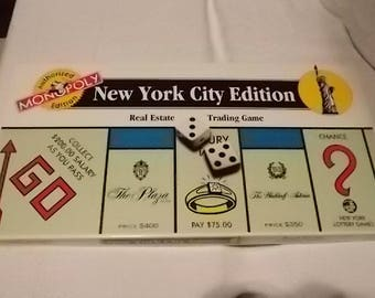 1995 Monopoly NYC edition New York City