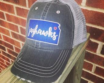 70d137c958d72 Kansas KU Jayhawks Glitter Baseball Cap adjustable trucker hat