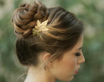 Gold leaf Comb, Wedding Comb, Gold Bridal Jewelry, Vintage Comb, Bridal Hair Accessories, Bridal Hair Pin, Bridesmaid Gift, bridal headpiece