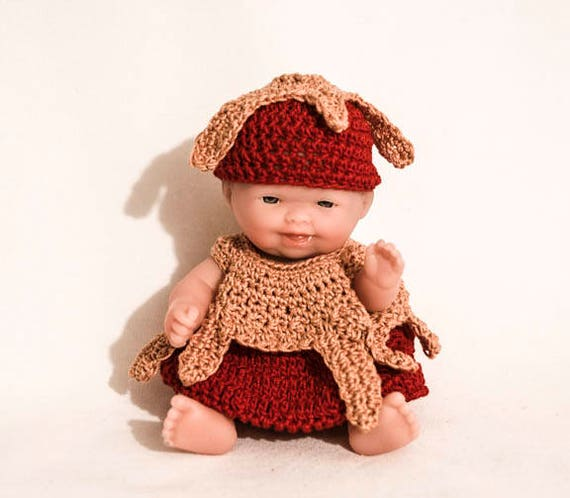 Caramel Apple  Outfit for the Itty Bitty Baby by Berenguer Lots to Love Baby Doll