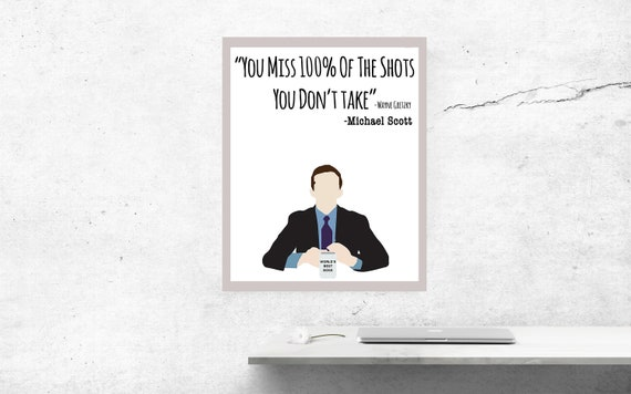 Funny The Office Michael Scott Wayne Gretzky Quote Printable Etsy Simple Michael Scott Wayne Gretzky Quote