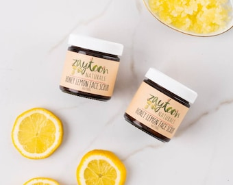 Honey Lemon Face Scrub -- Exfoliating Sugar Scrub