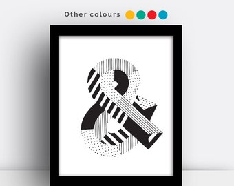 Ampersand (&) print - hand drawn typeface