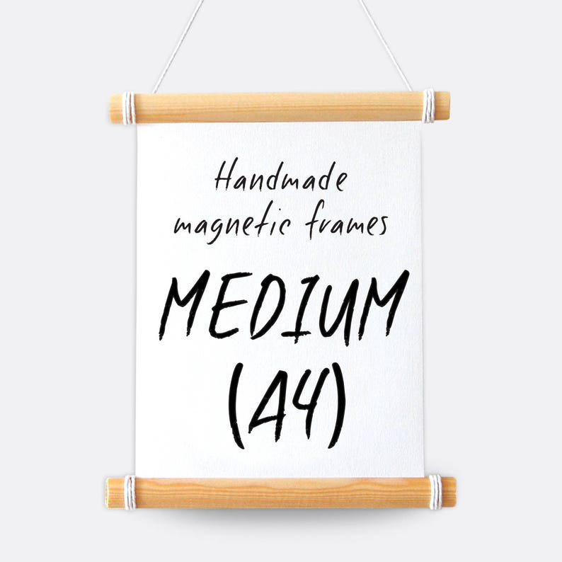 A4 Frame  Handmade Magnetic Hanging Frame & Twine image 0