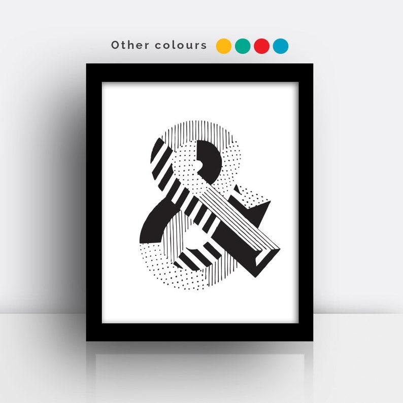 Ampersand & print  hand drawn typeface image 0