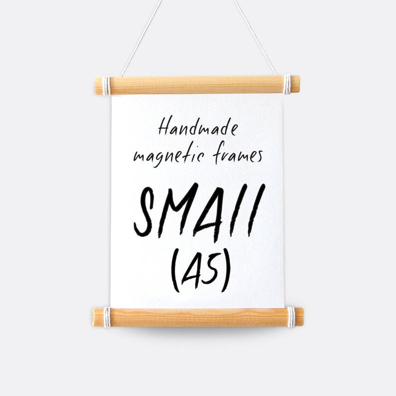 A5 Frame  Handmade Magnetic Hanging Frame & Twine image 0