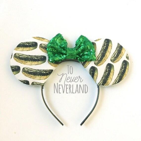 Pickle Oreilles De Mickey Disneyland Pickle Oreilles Etsy