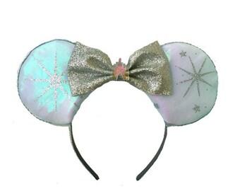 Magical Ears, Glitter Mickey Ears, Fairy Godmother Mickey Ears, Sparkle Ears, Fairy Godmother Disney Inspired Ears, Fairy Mickey Ears