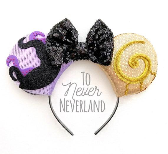 Oreilles Ursula Mickey Disney Vilain Oreilles Ursula Etsy