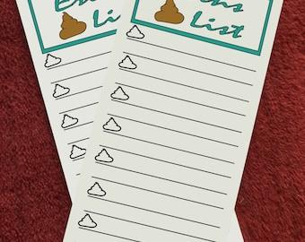 Poop List Notepad - Custom
