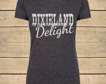 Country Shirts, Dixieland Delight, Dixie Shirts, Southern Shirt, Alabama Shirts, Country Music, Womens Soft Blend (Fitted Style) T-Shirt