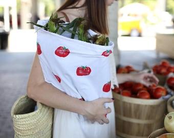 Reusable Cotton Produce Bag - Tomato